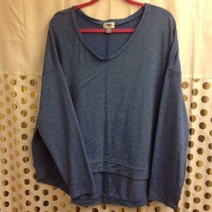 Old Navy Active Top Tunic Soft Shirt XXL EUC blue